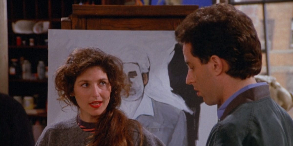 Catherine Keener and jerry Seinfeld on Seinfeld