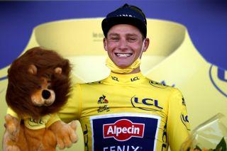 Mathieu van der Poel (Alpecin-Fenix) in the Tour de France leader's jersey