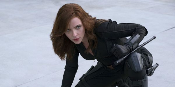 Scarlett Johansson as Black Widow in Captain America: Civil War