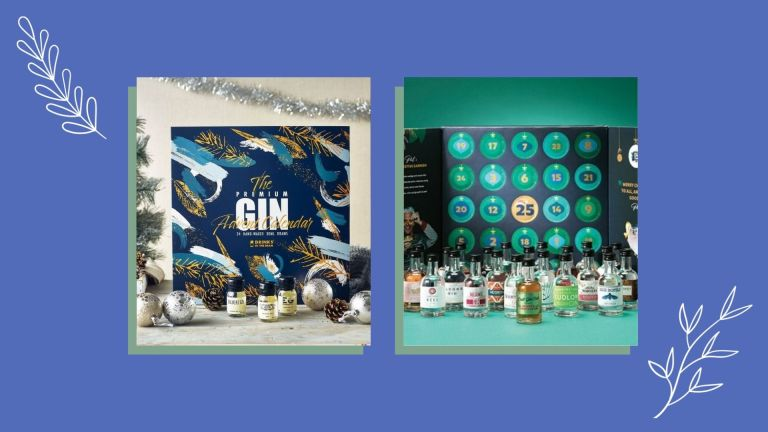 Two of the best gin advent calendars from Master of Malt and The Craft Gin Club shown side-by-side