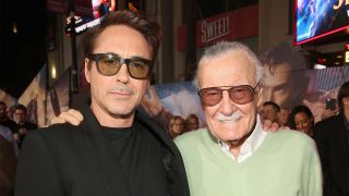Robert Downey Jr. with Stan Lee