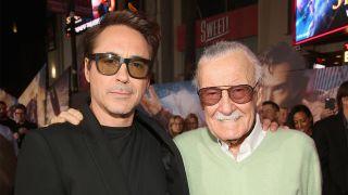 Robert Downey Jr. with Stan Lee
