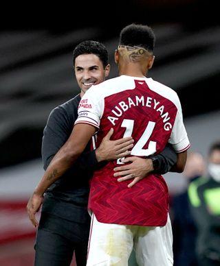 Pierre-Emerick Aubameyang has been in fine form since Mikel Arteta took over as Arsenal boss.