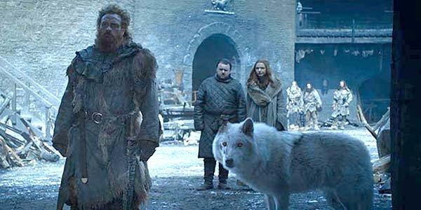 Tormund Giantsbane and Ghost Game of Thrones Season 8 HBO