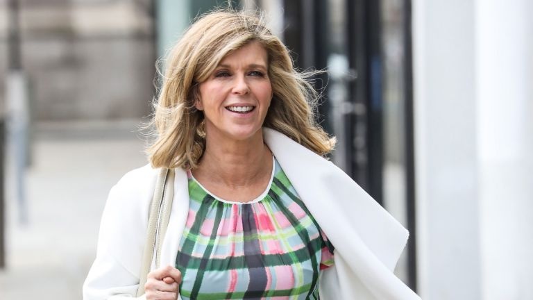 Kate Garraway is seen arriving at the Global Studios on March 25, 2021 in London, England