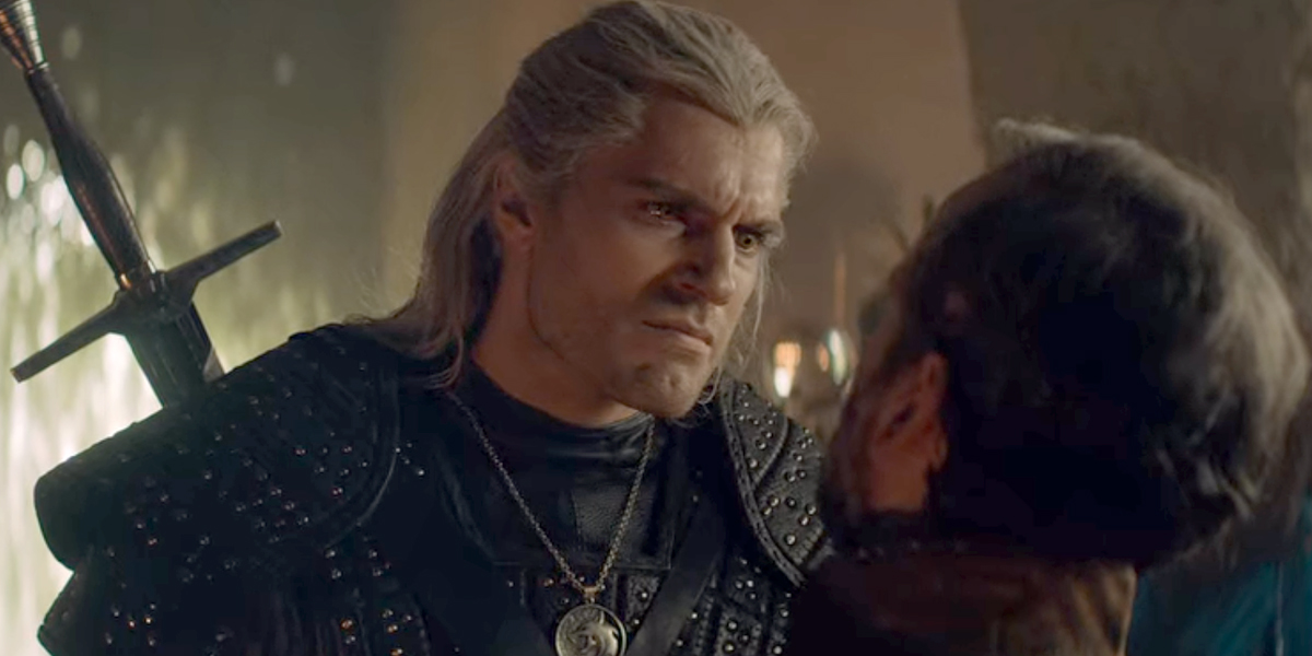 Henry Cavill angry as Geralt in The Witcher Season 1