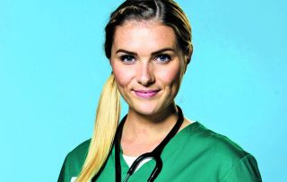 Casualty star Chelsea Halfpenny as Alicia Munore