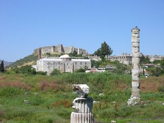 The temple of artemis in Ephesus.