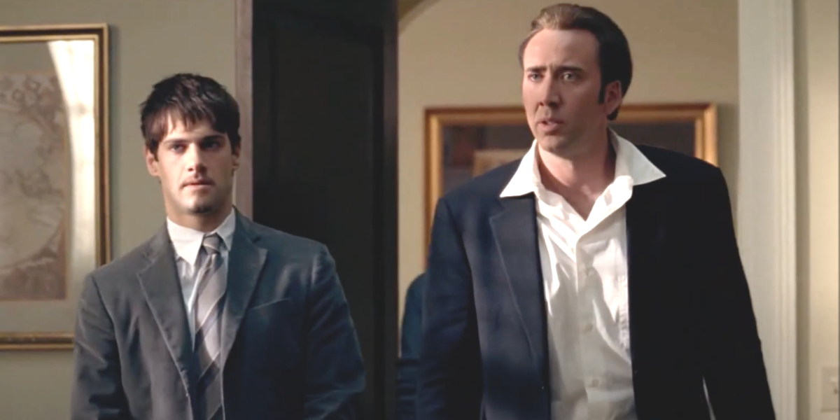 Justin Bartha and Nicolas Cage in National Treasure