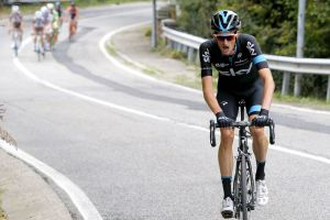 Wout Poels (Team Sky) in action during the 2015 Milan - Turin