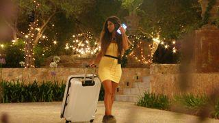 Shannon Singh leaving the Love Island villa.