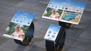 IBM smartwatches with foldable displays