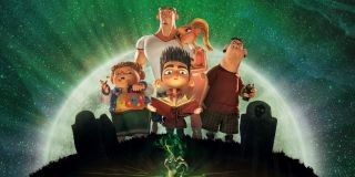 Paranorman kids gathered in the graveyard