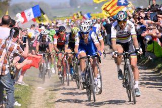 Cycling: 115th Paris - Roubaix 2017 Peter SAGAN (SVK)/ Zdenek STYBAR (CZE)/ Compiegne Paris - Roubaix (257Km)/ PR / pool bp © Tim De Waele