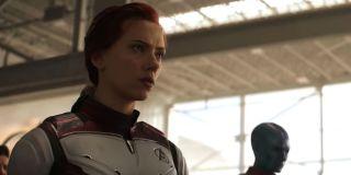 Scarlett Johansson as Natasha Romanoff/Black Widow and Karen Gillan as Nebula in Avengers: Endgame (