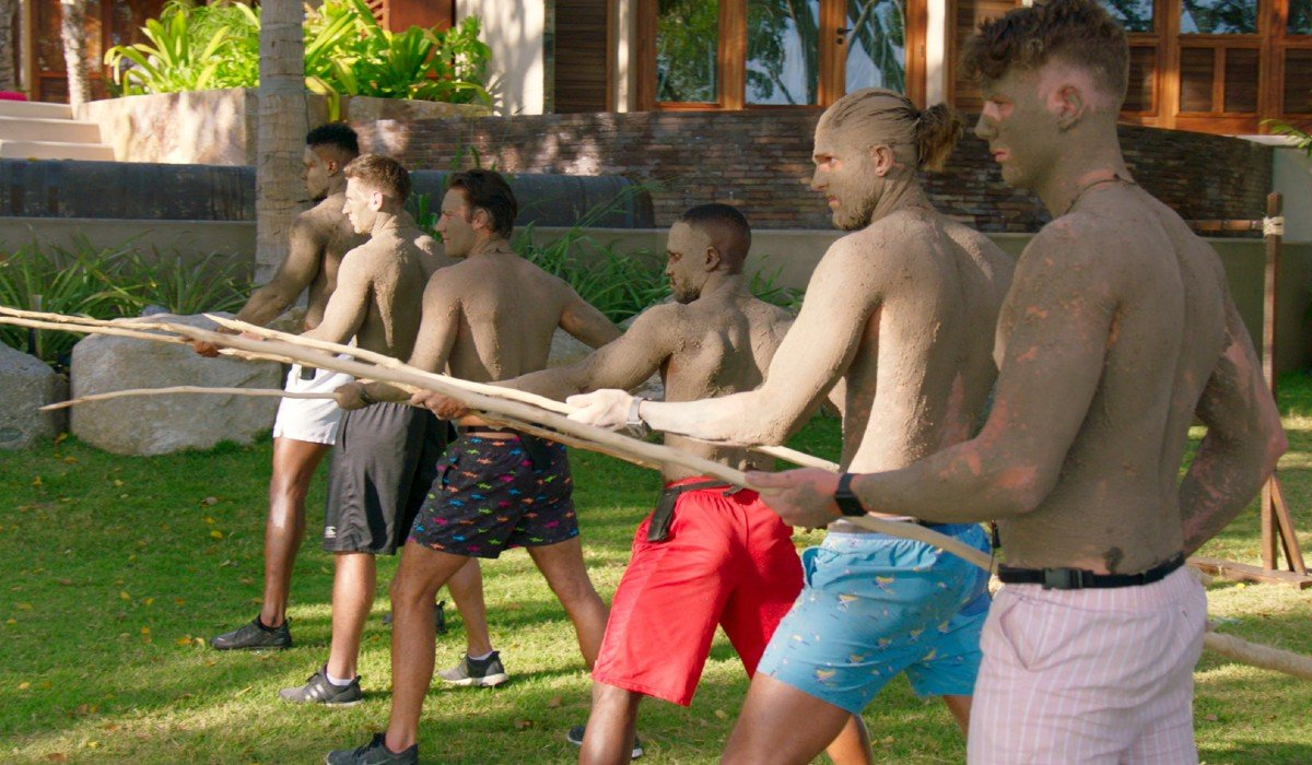 Contestants with poles Too Hot To Handle