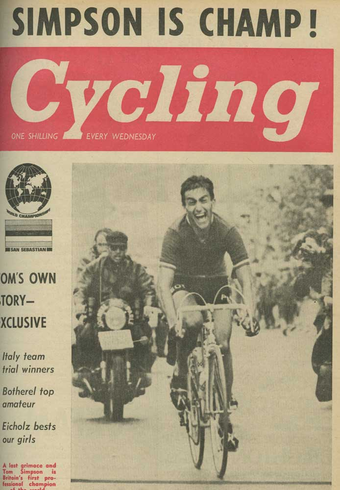tom simpson, world championships, british world champion
