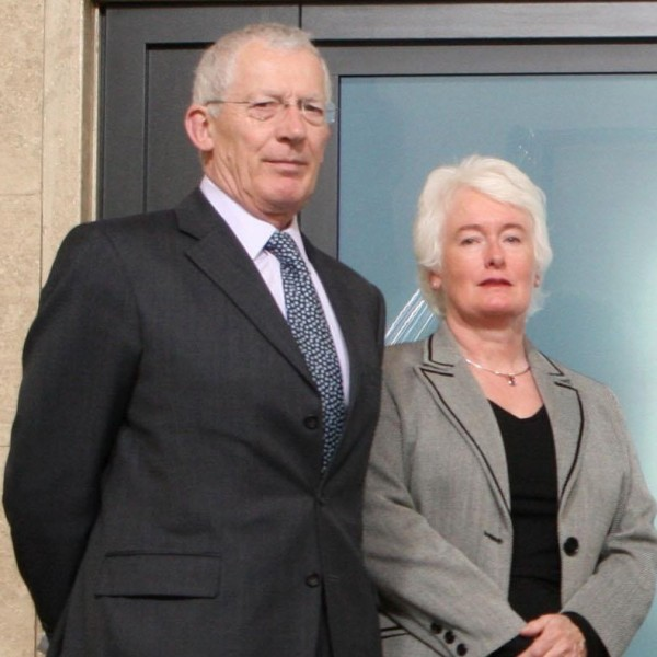 Nick Hewer and Margaret Mountford.