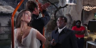 Live and Let Die Yaphet Kotto holds Roger Moore and Jane Seymour at gunpoint