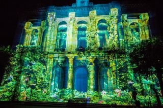 Panasonic projection at the 2019 LUMA Projection Arts Festival