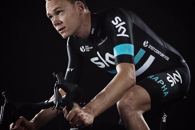 Chris Froome in Team Sky's 2016 kit