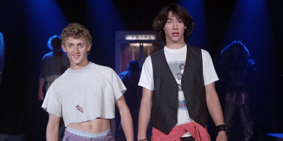 Alex Winter and Keanu Reeves in Bill & Ted's Excellent Adventure