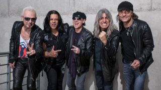 Mikkey Dee, second right, with Scorpions
