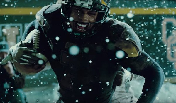 Ray Fisher as Victor Stone playing football in Justice League