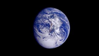 One new climate study shows that we will need to be patient to see significant results from reducing emissions. This color image of the Earth was taken by the European Space Agency's Galileo spacecraft on Dec. 11, 1990, as it departed on its three year flight to Jupiter.