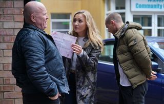 EastEnders Phil Mitchell Louise Mitchell and Keanu Taylor
