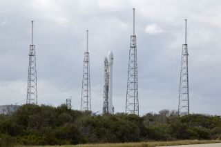 SpaceX's Falcon 9 Rocket Before Launch, Nov. 25, 2013