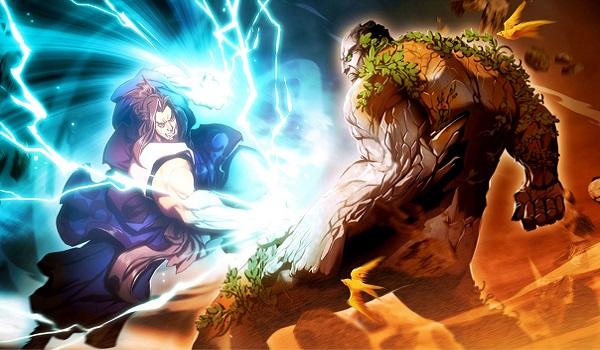 A battle begins in Fantasy Strike
