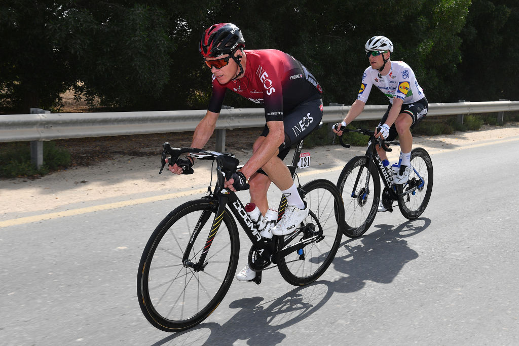Chris Froome is back in action at the UAE Tour