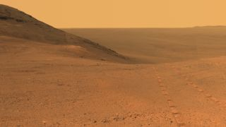 Opportunity Mars wheel tracks