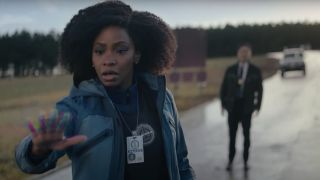 Teyonah Parris as Monica Rambeau.