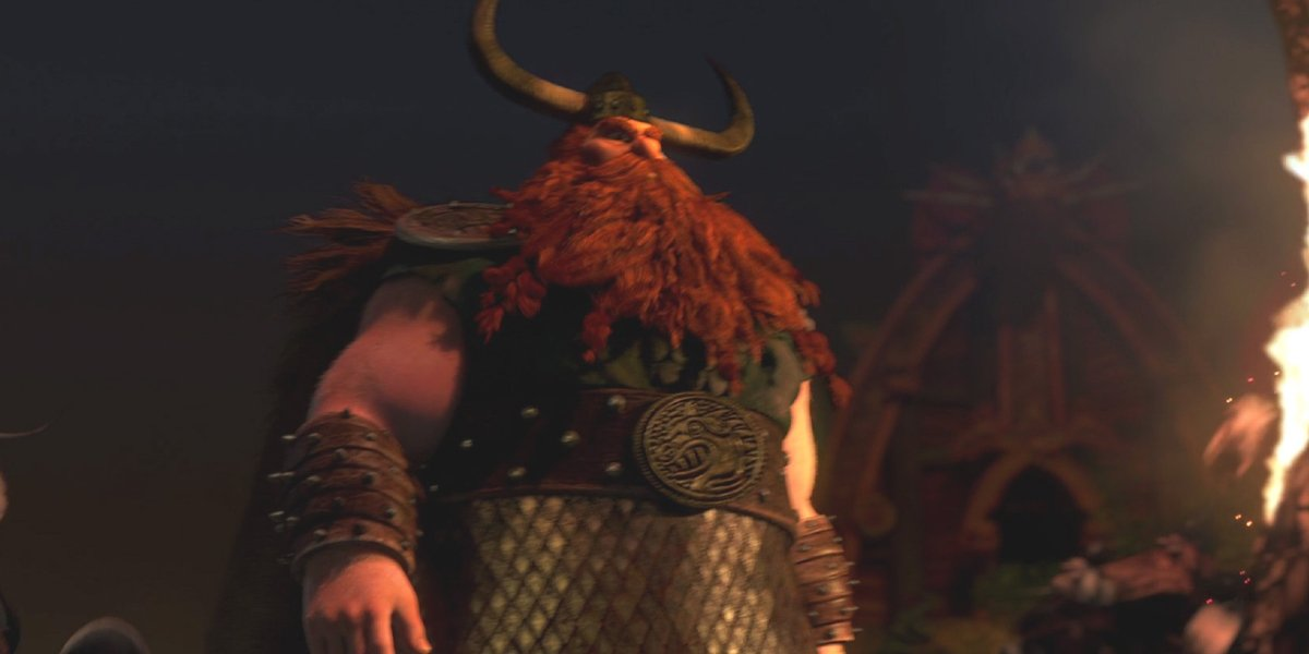 Stoick the Vast (Gerard Butler) in How To Train Your Dragon