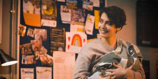 Smiling through the tears. Fenisha with baby Bodhi in Casualty
