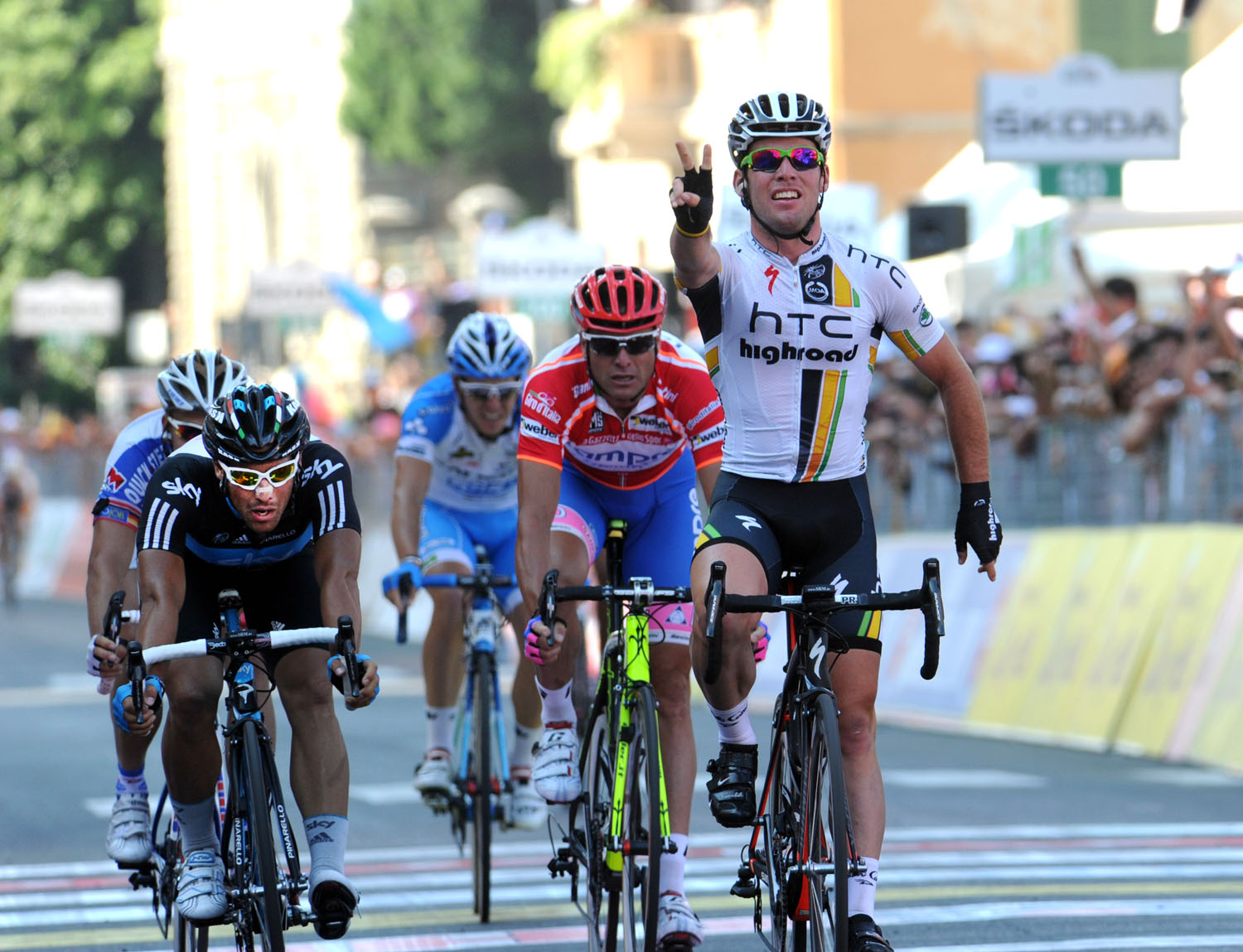 Mark Cavendish wins, Giro d