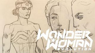 Wonder Woman: Evolution concept art by Mike Hawthorne