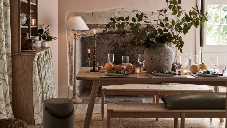 dining table idea with benches in a country style home - neptune