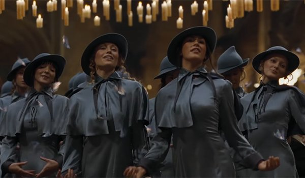 Beauxbatons Academy of Magic students making their entrance