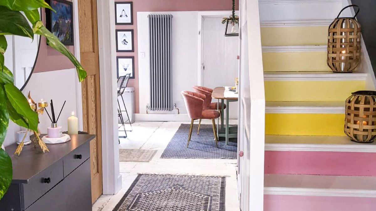 Staircase paint ideas – 15 bright and colorful designs to upgrade your stairs