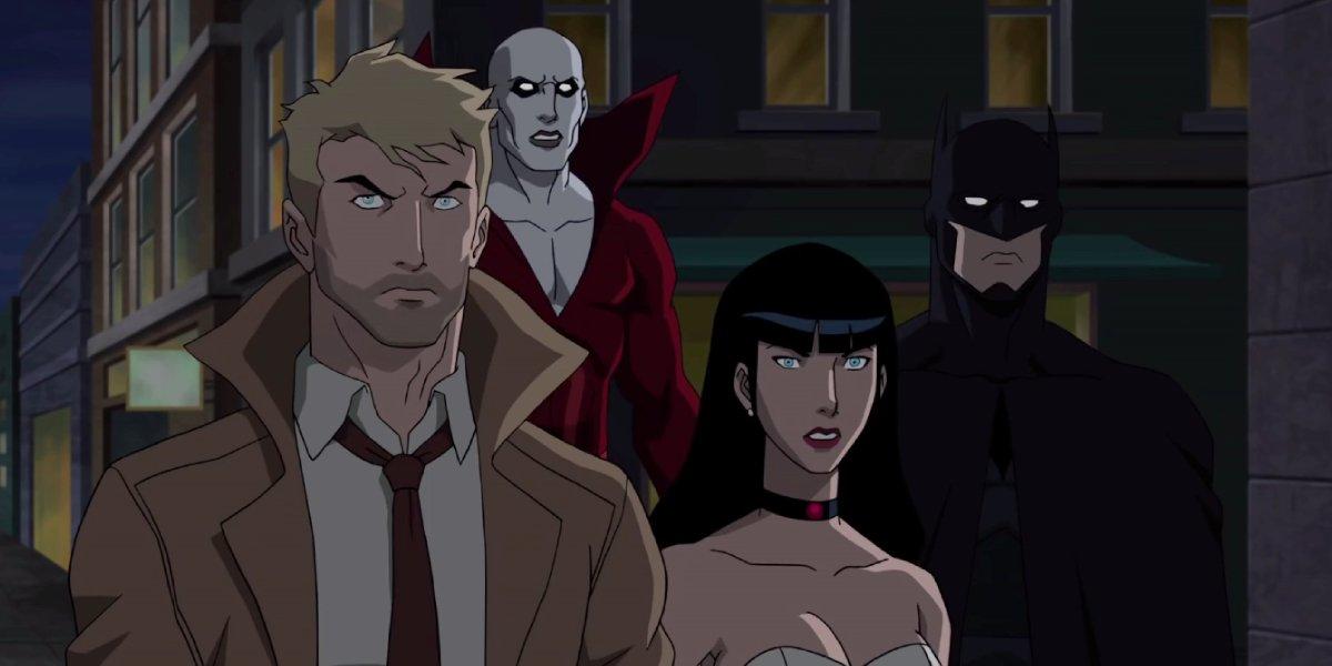 John Constantine, Deadman, Zatanna, and Batman in the 2017 animated Justice League Dark movie
