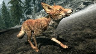 A fox from the game Skyrim