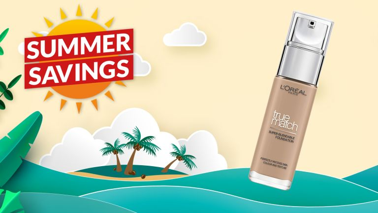 Save over 40% off L'Oreal True Match Foundation in Amazon's summer sale