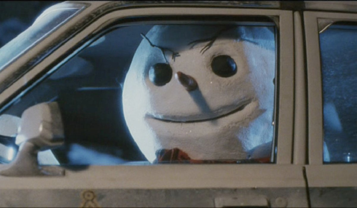 Jack Frost driving a car in his nicer looking appearance