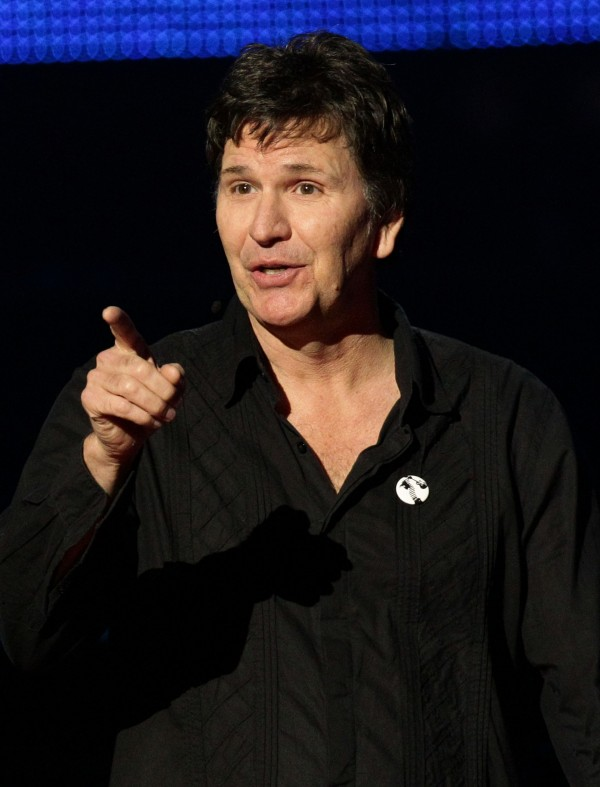 Stewart Francis on stage during the Teenage Cancer Trust Comedy Night