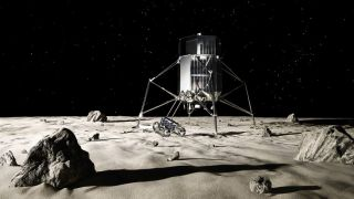 ispace Lander and Rover on the Moon