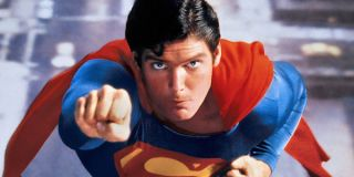 Christopher Reeve Superman flying