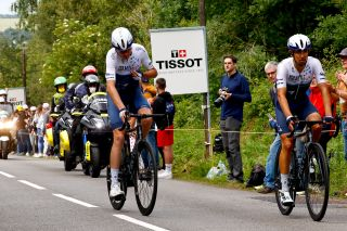 Chris Froome crashes on stage 1 of the Tour de France